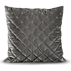Fendi Casa Quilted Velvet Pillow (25.550 RUB) ❤ liked on Polyvore featuring home, home decor, throw pillows, pillows, textured throw pillows and fendi casa