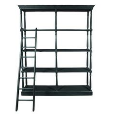 Wrightwood Furniture — French Bookshelf, Charcoal Gray