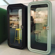 Framery O Booths at Clerkenwell Design Week 2017 #CDW2017 #clerkenwelldesignweek #framery #phonebooth #frameryuk #office #interiors #pod #officedesign #workplace #acoustics #privacy #workplacedesign #officeblueprint #frameryacoustics #officepod #soundproof