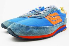 Spalding vintage blue and orange sneakers @ The Deffest