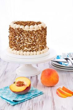 Peach Cake with Dulce de Leche Frosting_20110723_1 by foodiebride, via Flickr