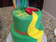 #WizardOfOz #BirthdayCake #YellowBrickRoad #wizardOfOzParty #DorothyParty #TheArtisticWhisk