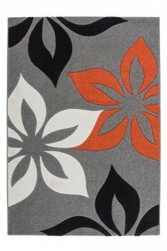 Teppich mit Konturenschnitt - Netherlands - Maastricht Orange Draufsicht