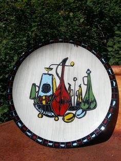 Vintage 1960s Italian Scraffito ceramic plate by fcollectables, €45.00