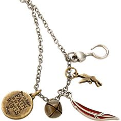 Disney Peter Pan Interchangeable Charm Necklace ($7.35) ❤ liked on Polyvore featuring jewelry, necklaces, disney, multi, engraved disc necklace, charm jewelry, disney necklace, feather necklace and engraved charm necklace