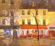 Night Tertr - Peter Bezrukov -2008, oil on canvas, 11 3/4 xx 13 3/4