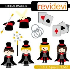 Little Magician Clip Art features cute boys and girls, playing cards, magic wand, hat with rabbit. Great for magic theme projects.This cute digital clipart set is great for teachers and educators. The collection is suitable for school and classroom projects such as for bulletin board, learning printable, worksheet, classroom decor, craft materials, activities and games, and for more educational and fun projects.You will receive:- Each clipart saved separately in PNG format, 300 dpi with ...