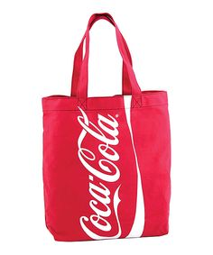 Look at this #zulilyfind! Coca Cola Recycle Bottle Material Tote by Comeco Inc #zulilyfinds