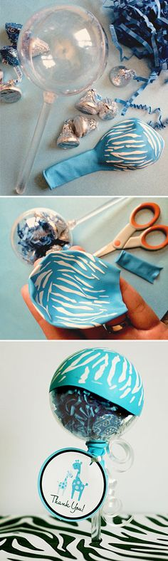A Party Lolli to match the Blue Safari Baby Shower theme available at @party-party City  | www.PartyLolli.com