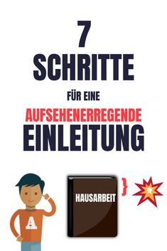 Einleitung schreiben für deine Hausarbeit – Der Write an introduction for your scientific paper: Here I show you in 7 steps, how you drive the curiosity of your expert into the immeasurable and lay the foundation for your first School Motivation, Study Motivation, I School, School Classroom, Term Paper, Motivational Speeches, School Architecture, Architecture Portfolio, Life Organization