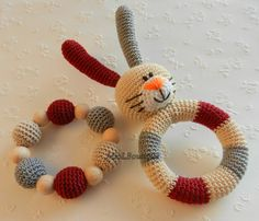 Ready to ship! Colour: beige, grey, dark red Bunny crocheted with love from 100% cotton yarn and stuffed with a polyester fiberfill and in the