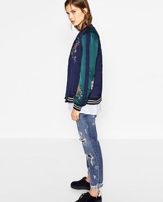 Image 5 of EMBROIDERED REVERSIBLE BOMBER JACKET from Zara