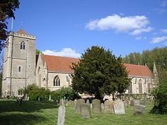 Dorchester Abbey - Is the location of Sir John De Holcombe's burial.  The family pedigree  which hung behind the sarchohagus in the lady chapel was removed in 1995 because of a dispute among researchers.