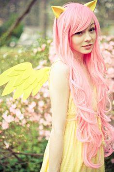 Cosplay Manga Costume My Little Pony; Friendship is Magic cosplay - Fluttershy Fluttershy, Cosplay Hair, Cosplay Wigs, Anime Cosplay, Amazing Cosplay, Best Cosplay, Cosplay Tutorial, My Little Pony Friendship, Equestria Girls