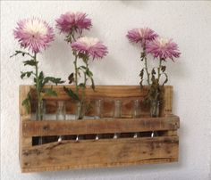 Rustic wood vase holder