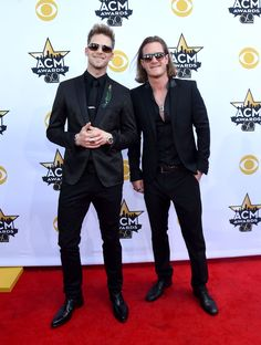"""2015 Academy of Country Music Awards Brian Kelley and Tyler Hubbard of Florida Georgia Line attends the CMA at AT&T Stadium in Arlington, Texas. Florida Georgia Line WON Vocal Event of the Year for """"This is How We Roll."""""""