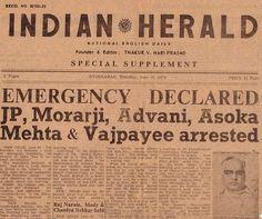 National Emergency of 1975 by Balaji Viswanathan