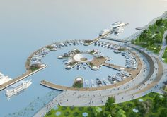 vincent callebaut conceives floating ferry terminal shaped like a manta ray