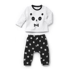 Pijama 2 peças em moletão R Baby   La Redoute