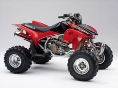 The sport ATV market may not be as big as it once was, but many sport ATVs, like the Honda TRX are fan favorites since they are still in production. Scooter Motorcycle, Motorcycle Fashion, Motorcycle Touring, Sport Atv, Quad Bike, Four Wheelers, Buggy, Dirtbikes, Street Bikes