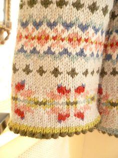 Ravelry: My Farm Cardigan Fair Isle Knitting Patterns, Fair Isle Pattern, Knitting Charts, Knitting Stitches, Knitting Designs, Knit Patterns, Knitting Projects, Baby Knitting, Tejido Fair Isle