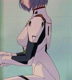 Manga Anime, Old Anime, Fanarts Anime, Manga Girl, Anime Characters, Anime Art, Anime Girls, Neon Genesis Evangelion, Rei Ayanami