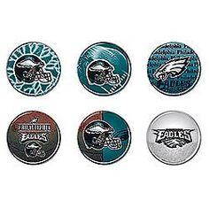 Philadelphia Eagles 6 Pack buttons