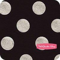 dress fabric??...Glitz Silver Zirconium on Black Quarter Dot Pearlized Yardage SKU# MC3744-ZIRC-D