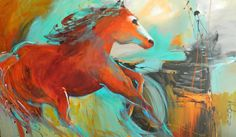 Wild Horse  Original Art By CC Opiela