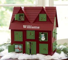 Advent calendar house-  This would make a great start of a haunted Halloween advent calendar.