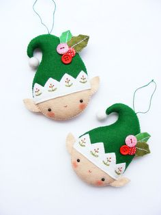 PDF pattern - Christmas elf - Felt Christmas ornament, hand sewing DIY project…