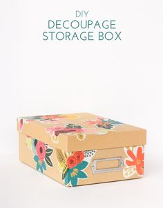 Make over those boring storage boxes with this easy decoupage tutorial!