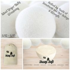 Wool Dryer Balls Giveaway (ends 5/29)
