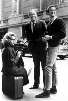 "Jane, Peter and Henry Fonda on the set of ""Sunday in New York,"" 1963."