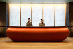 Modern Reception Desk, Reception Desk Design, Lobby Reception, Reception Counter, Reception Areas, Reception Table, Bar Counter, Counter Design, Lobby Interior