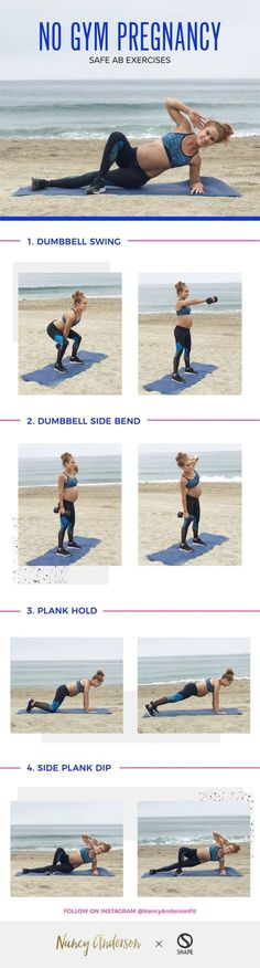 Effective ab exercise you can do during pregnancy Workout with NO gym required. The Perfect Pregnancy Workout: It's safe for Prenatal.