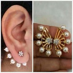 Trendy Ear Cuff With Pearl White Stone MMULT42050473880 - buy Jewellery online from Multiline Company at CraftsVilla.com
