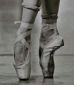 Image result for worn out pointe shoes