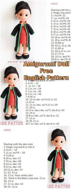 Amigurumi Doll Lady Lawyer Free Crochet Pattern – Amigurumi – My CMS Crochet Dolls Free Patterns, Amigurumi Patterns, Amigurumi Doll, Crochet Toys, Free Crochet, Amigurumi For Beginners, Crochet Bunny Pattern, New Toys, Diy
