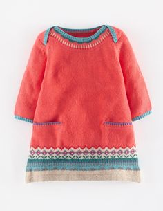 Mini Boden Fair Isle Knit Sweater Dress (Baby Girls) available at Knitting Baby Girl, Knitting For Kids, Knit Baby Dress, Knit Sweater Dress, Sweater Dresses, Baby Girl Sweaters, Baby Girl Dresses, Baby Girls, Fair Isle Knitting
