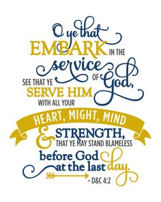 "2015 YW-YM Theme: ""Embark in the Service of God"" Free Printables by Kolette Hall"