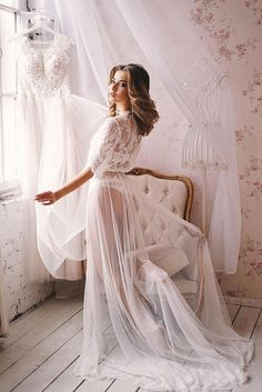 Wedding Gown Bridal Dress Sexy Lingerie Boudoir Dress See Through Lingerie Lace Nightgown White Camisole Women Camisole Bridesmaid Wedding Night Lingerie, Wedding Boudoir, Wedding Gowns, Wedding Lingerie Pictures, Wedding Underwear, Wedding Tips, Wedding Ceremony, Lingerie Chic, Bridal Lingerie