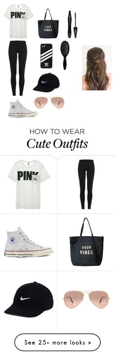 """""""relaxin day outfit"""" by ellalax on Polyvore featuring Victoria's Secret, Polo Ralph Lauren, Converse, Venus, adidas, NIKE, Ray-Ban, Lancôme and H&M"""
