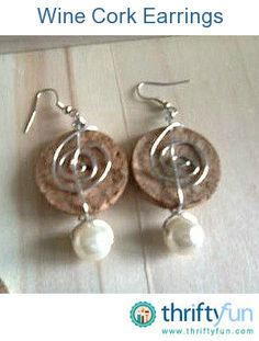 I crafted these earrings and a charm from slices of wine corks and scraps from the bottom of my bead box. I think they are pretty good value for around 20 cents per pair!