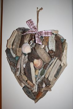 Kentish Driftwood / Shell Heart....collect stuff from our next trip to NS