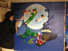 Peter Pan mural for a nursery