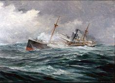In the rough seas