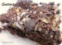 Six Sisters German Chocolate Lava Cake Recipe. This cake shows up at a lot of our family parties! We love it!