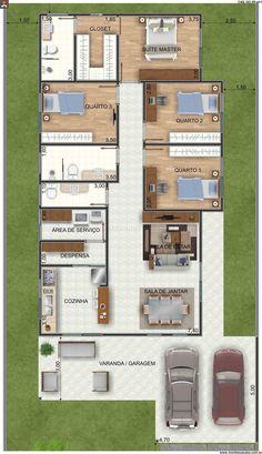 Casa 3 Quartos - 263.99m²