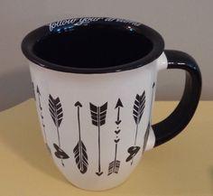 "TMD HOLDINGS Graphic Coffee Mug ""Follow Your Dreams"" Black White NEW #TMDHOLDINGS"